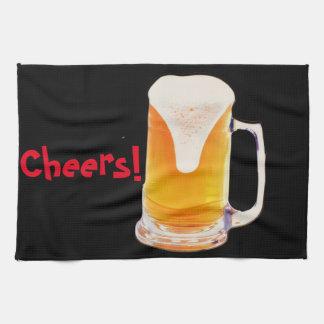Taza de cerveza toalla de cocina