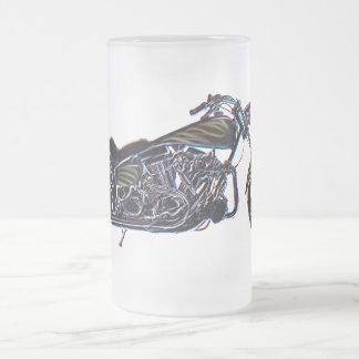 Taza de cerveza V-gemela de neón de la motocicleta