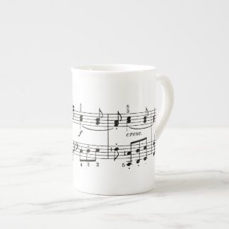 Taza de China de las notas musicales