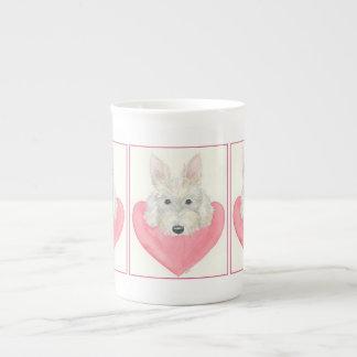 Taza de China del perro del escocés