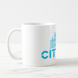 Taza de CityLab con horizonte azul