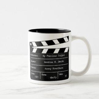 Taza de Clapperboard para sus escenas del café
