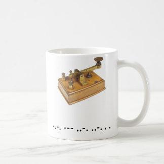 Taza de Cofee del código Morse