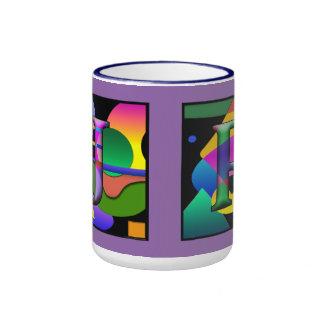 Taza de Cofee del monograma de J&R