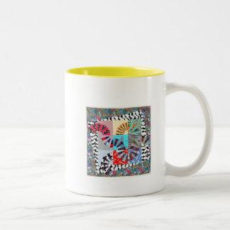 Taza de Coffe con el edredón Designe