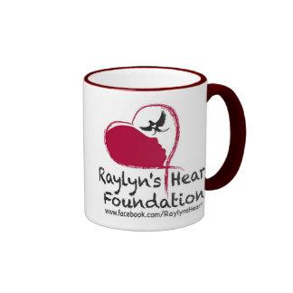 Taza de Coffe de la fundación del corazón de Rayly