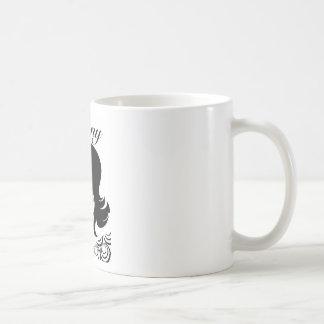 Taza de Coffe del ébano. 11 onzas