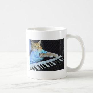 ¡Taza de Coffe del gato del teclado! Taza Clásica