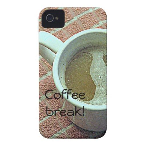 Taza de Coffe iPhone 4 Case-Mate Cárcasa