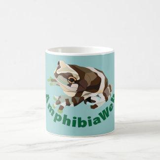 Taza de Colorblock de la rana de la leche de Amphi