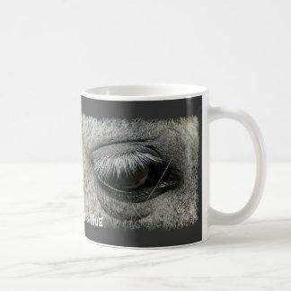 taza de consumición de la foto del ojo del caballo