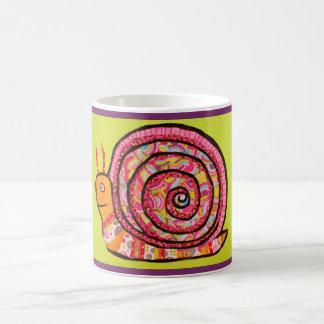 Taza de consumición del caracol rosado colorido