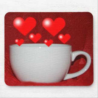 Taza de corazón Mousepad del café Alfombrillas De Raton