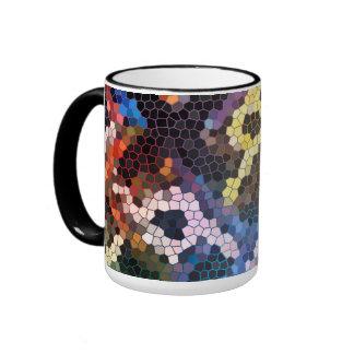 Taza de cristal acolchada del estilo del mosaico