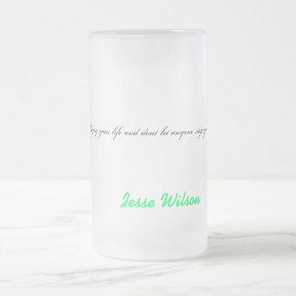 taza de cristal de la cena