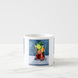 Taza de cristal del café express de la fruta taza espresso