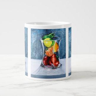 Taza de cristal del jumbo de la fruta taza grande