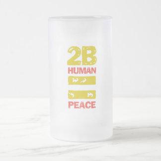 taza de cristal escarchada