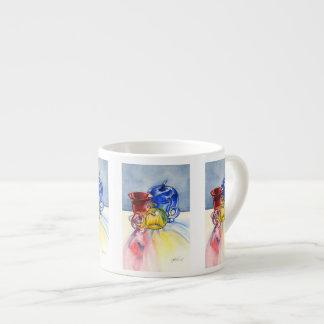Taza de cristal primaria del café express taza espresso