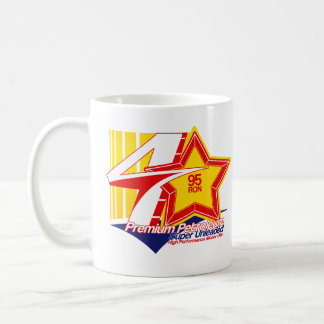 Taza de cuatro estrellas del logotipo de la gasoli
