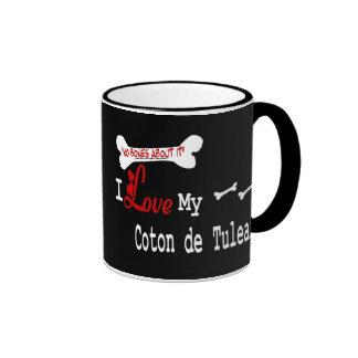Taza de De Tulear (amor del algodón de I)