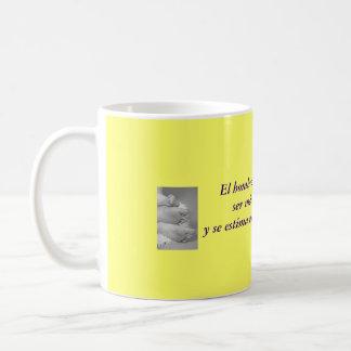 Taza de desayuno con frase de Goethe