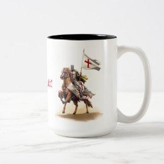 Taza de Deus Vult del caballero de Templar