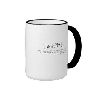 taza de doble cara del thinkPhD