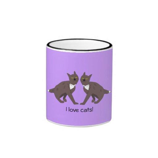 Taza de dos gatos