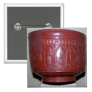 Taza de Dragondorff, de Graufesenque, c.150 A.C. ( Pin Cuadrada 5 Cm