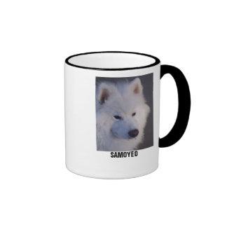 Taza de Drinkware del perro de trineo del samoyedo