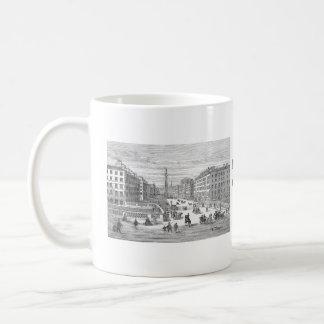 Taza de Dublín Irlanda del vintage de la calle de