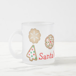 Taza de encargo de la leche del navidad para Santa
