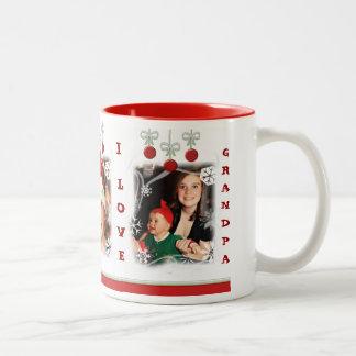 Taza de encargo del abuelo del navidad de la foto