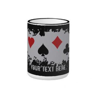 Taza de encargo del chapoteo de la tarjeta - elija