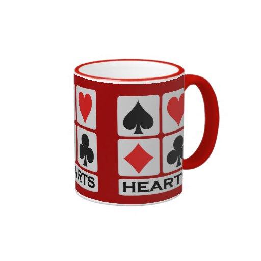 Taza de encargo del jugador de los corazones -
