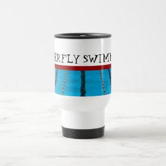 Taza de encargo del viaje de la natación
