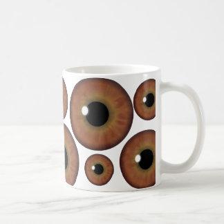 Taza de encargo fresca del iris del ojo de Brown