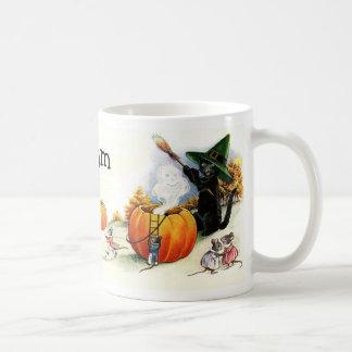 Taza de encargo personalizada linda de Halloween d