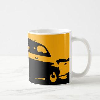 Taza de Fiat 500 - amarillo en oscuridad