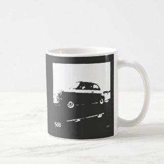 Taza de Fiat 500 - blanco en oscuridad