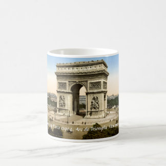 Taza de Francia del vintage, monumento París de