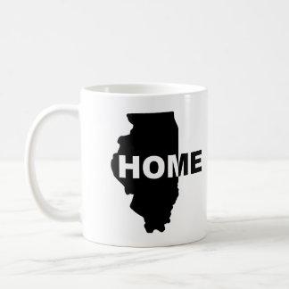Taza de fuera casera de Illinois o taza del viaje