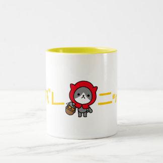 Taza de Ganbare Japón - gatito