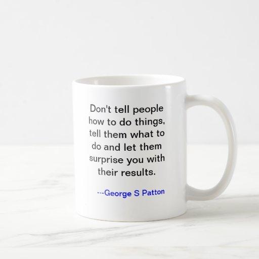 Taza de George Patton