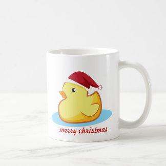 Taza de goma amarilla del pato de las Felices