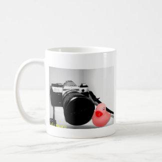 """Taza de goma del pato de la """"fotografía"""""""
