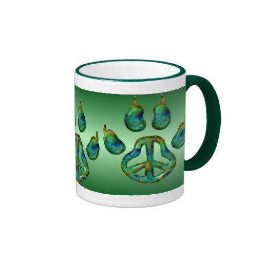 Taza de Greenergy de la paz de la pata