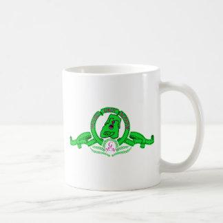 Taza de Grin el perrito verde Classic White Coffee Mug