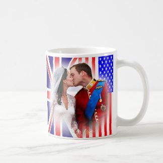Taza de Guillermo y de Kate Gran Bretaña-América